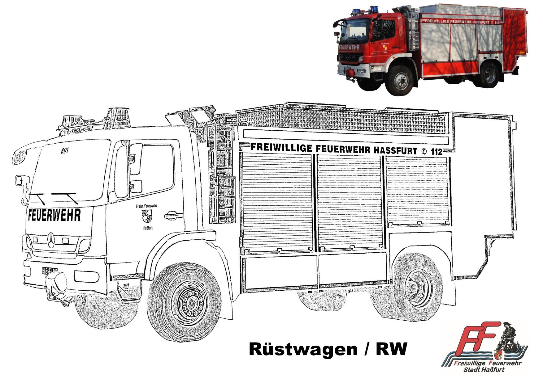 feuerwehr haßfurt  ausmalbilder fahrzeuge ff haßfurt